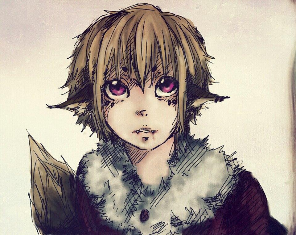 Wolf Anthro Boy Wolf Boy Colored by Teicak99