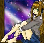 Monika is waiting