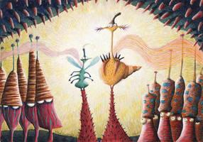 The Mushrooms by Mazhlekov