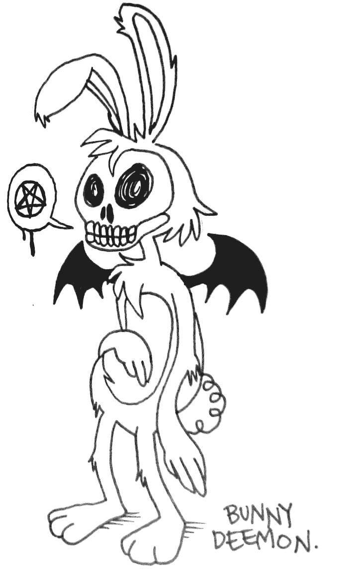 bunny demon by oij