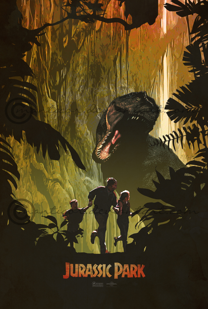 Jurassic Park Movie Poster by manticor