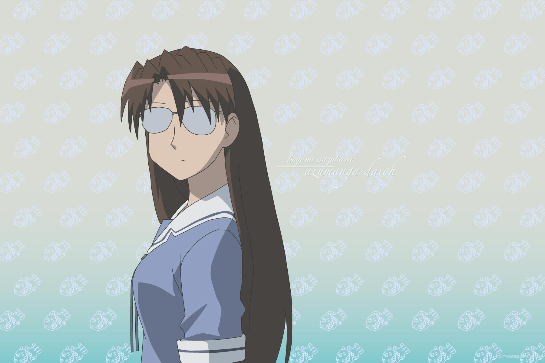 Koyomi Mizuhara, aka Yomi, comments on some suspicious photos from the Summer Break episode of the Azumanga Daioh anime adaptation