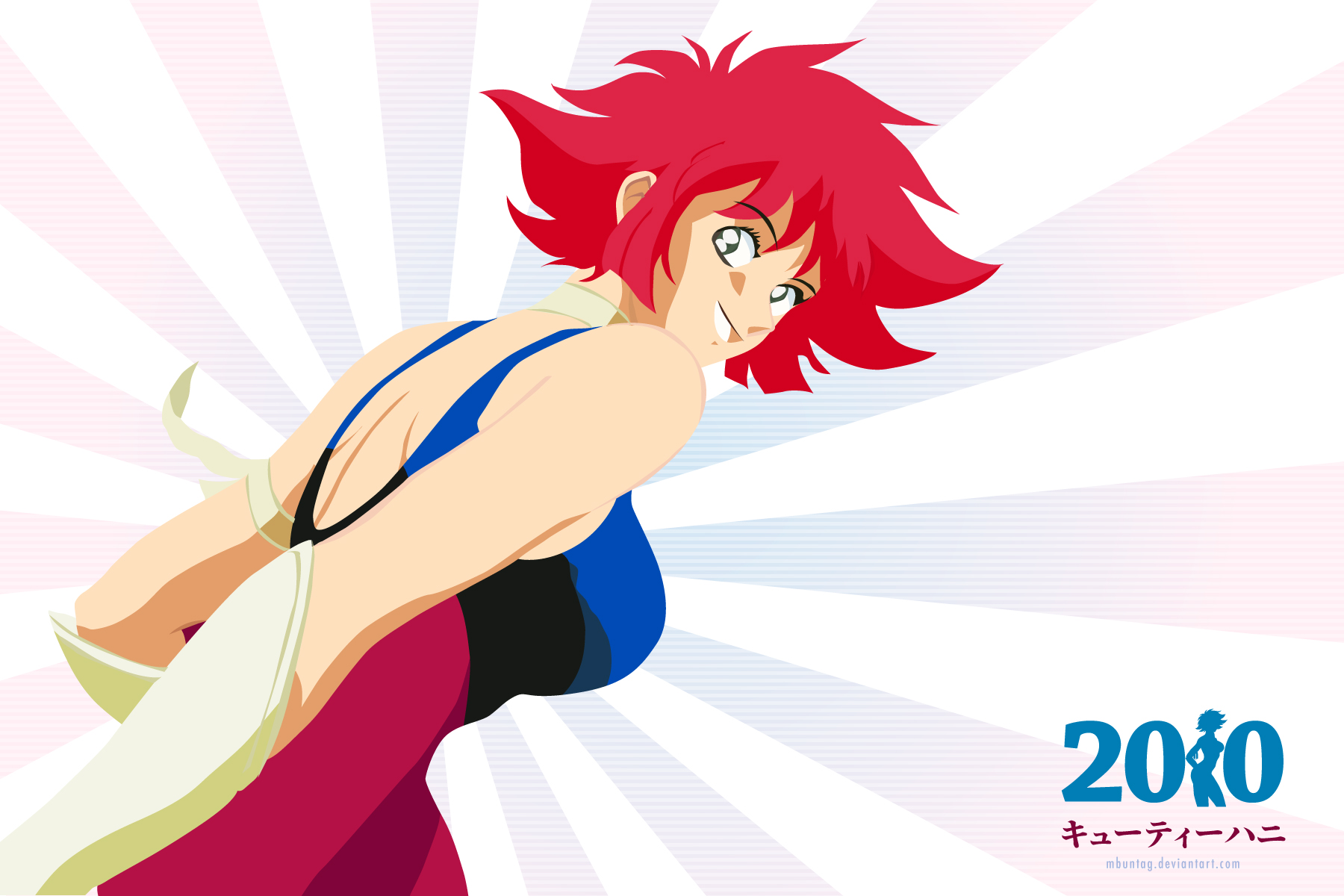 New Super Android Cutey Honey or New Cutey Honey anime Wallpaper 4 The Queen of Fan Service. Honey Flash!