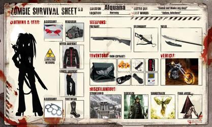 Zombie survival sheet by Alquana
