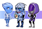 - aliens of mass effect - by Alquana