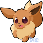 Eevee Chibi by DoveyDraws