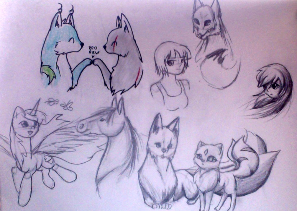 More random scribbles by IfreakenLoveDrawing