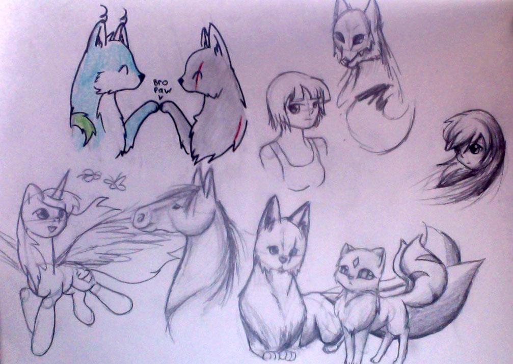 More random scribbles by IfreakenLoveDrawing