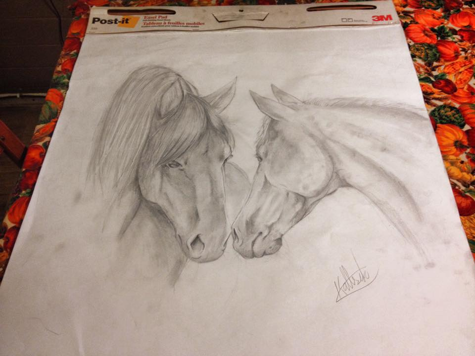 Equine Couple by IfreakenLoveDrawing