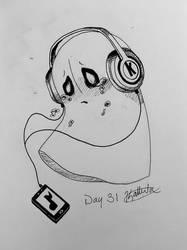 Inktober 2018 - Day 31: Napstablook