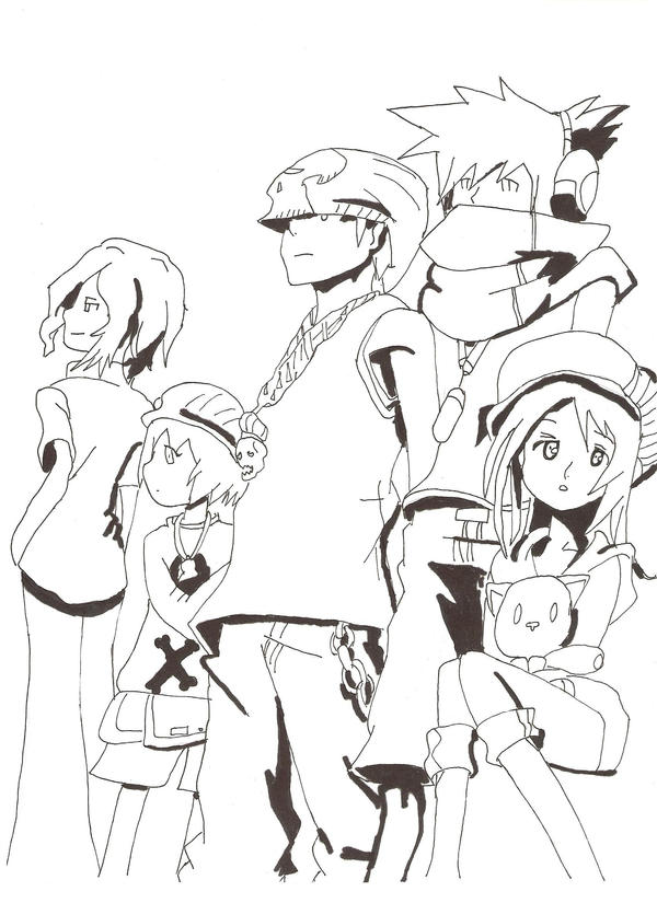 The World Ends With You Gang by Mitsuko17