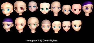 MMD Headpack1+DL by Fina-Nz