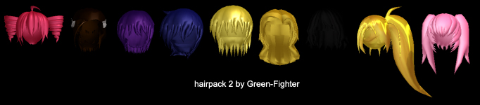 MMD hairpack2+DL by Sefina-NZ