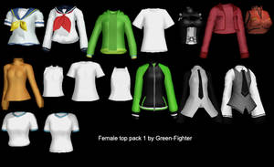 MMD female top pack 1 + DL by Fina-Nz