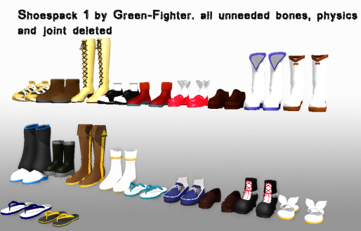 MMD shoespack 1 + DL by Sefina-NZ