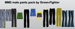MMD male pants pack updated+DL