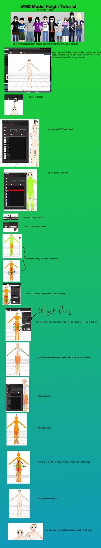 MMD Model Height tutorial