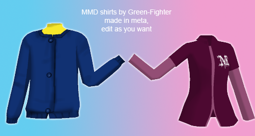 MMD shirts+DL by Sefina-NZ