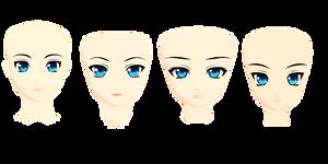 MMD Kio+Nakao head pack 1+DL by Fina-Nz