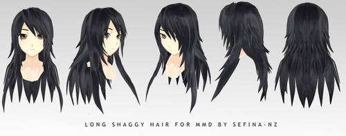 Long Shaggy hair+DL by Fina-Nz