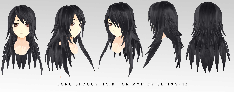 Long Shaggy Hair Dl By Sefina Nz On Deviantart