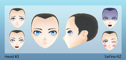 MMD Face 3+DL by Fina-Nz