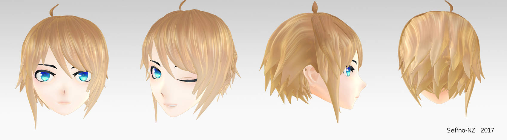 Short Blondish Brown Hair+DL