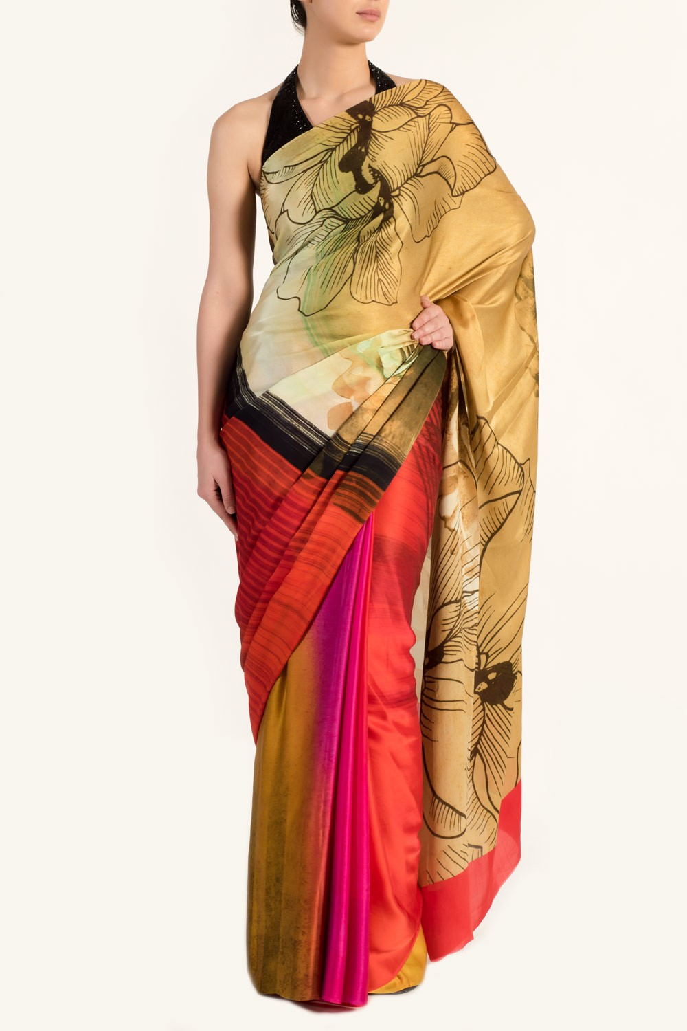 Buy digital print sarees online satya paul by satyapaul for Buy digital art online