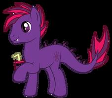 OC: Grape Slushie the Longma by SilverRomance