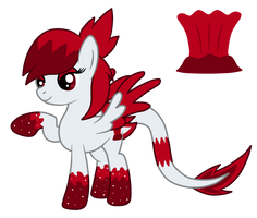 OC: Lava Plume the Traditional Pegasus by SilverRomance
