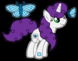 OC: Soft Silk the Plush Pony Unicorn by SilverRomance