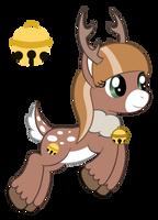 OC: Jingle Belle the Reindeer Pony by SilverRomance