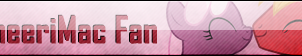 Fan Button: CheeriMac Fan by SilverRomance