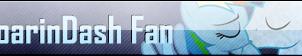 Fan Button: SoarinDash Fan by SilverRomance