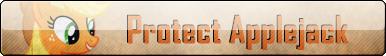 Fan Button: Protect Applejack by SilverRomance