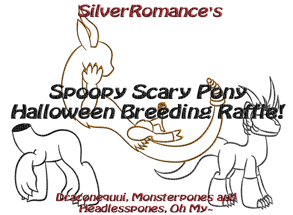 *CLOSED* ~Spoopy Pony Halloween Breeding Raffle~ by SilverRomance
