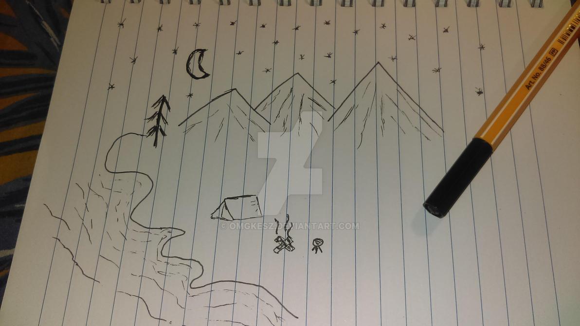 Simple landscape sketch by omgkesz on deviantart