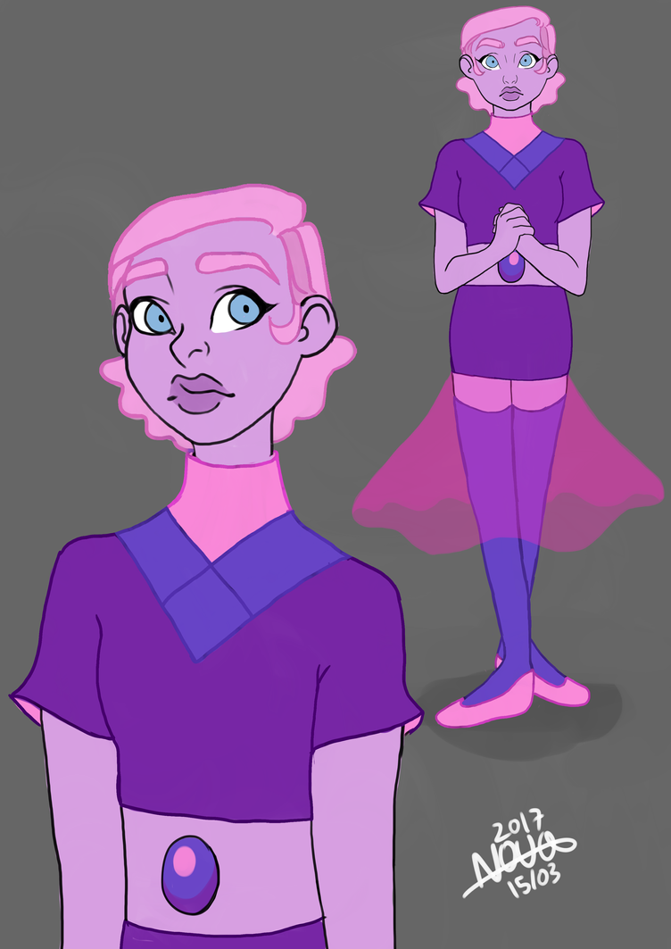 My blue/purple(?) pearl gemsona by novamcginn