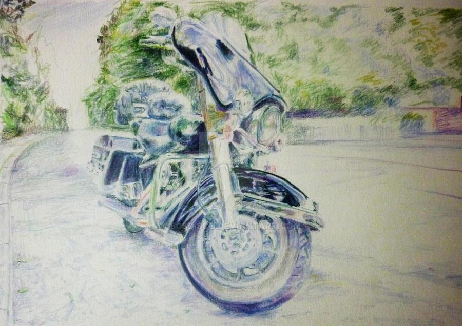 Harley Davidson, Haunted Road by 80sdisco