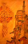Celtic Cross with Gargoyles from Albi Cathedral by 80sdisco