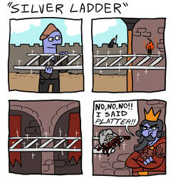 Silver Ladder by PepperoniDeluxe