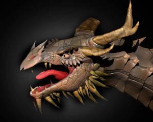 Paathurnax Head By Raeigga