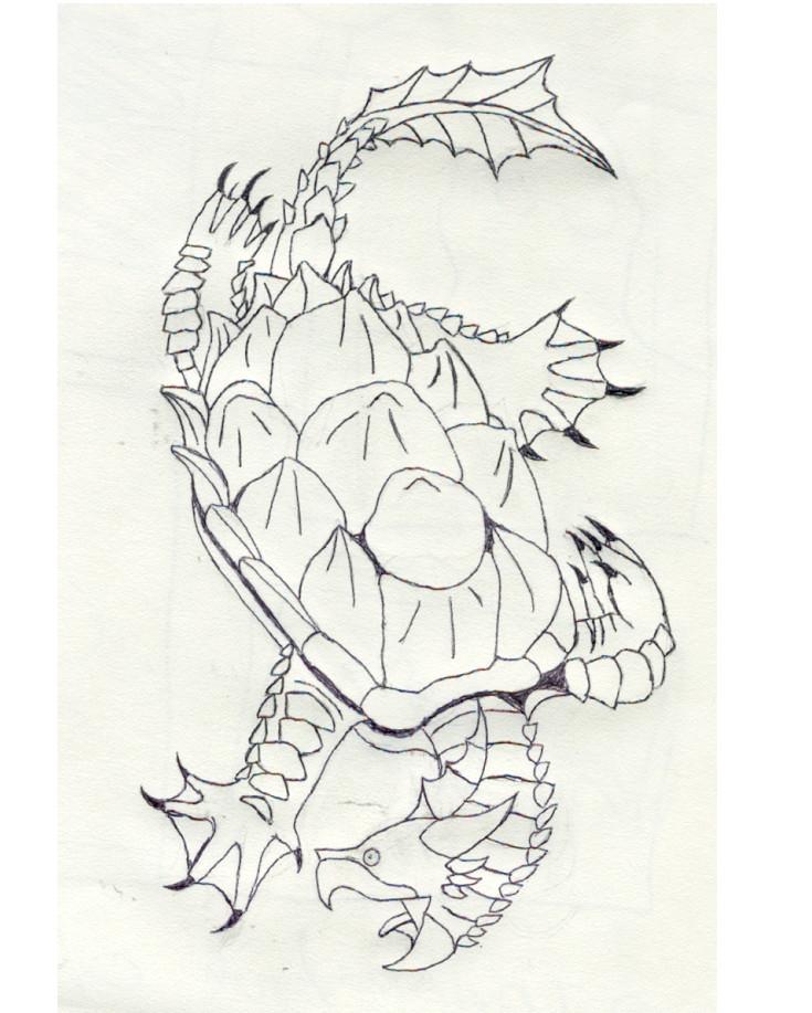 dragon turtle by turtlebeast on deviantart. Black Bedroom Furniture Sets. Home Design Ideas