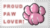 Proud Paw Lover Stamp by Thelightforest