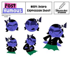 PostHumous Concept Art: Debra Expression Sheet