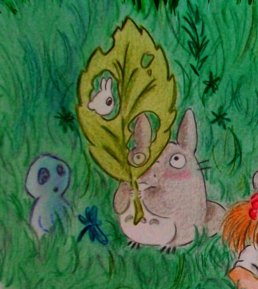 Totoro Homage a Miyazaki by Windydy