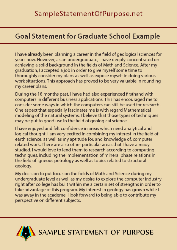goal statement example