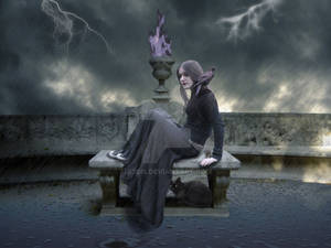 The sky lade mourning