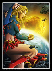 Supergirl - comics - by diabolumberto