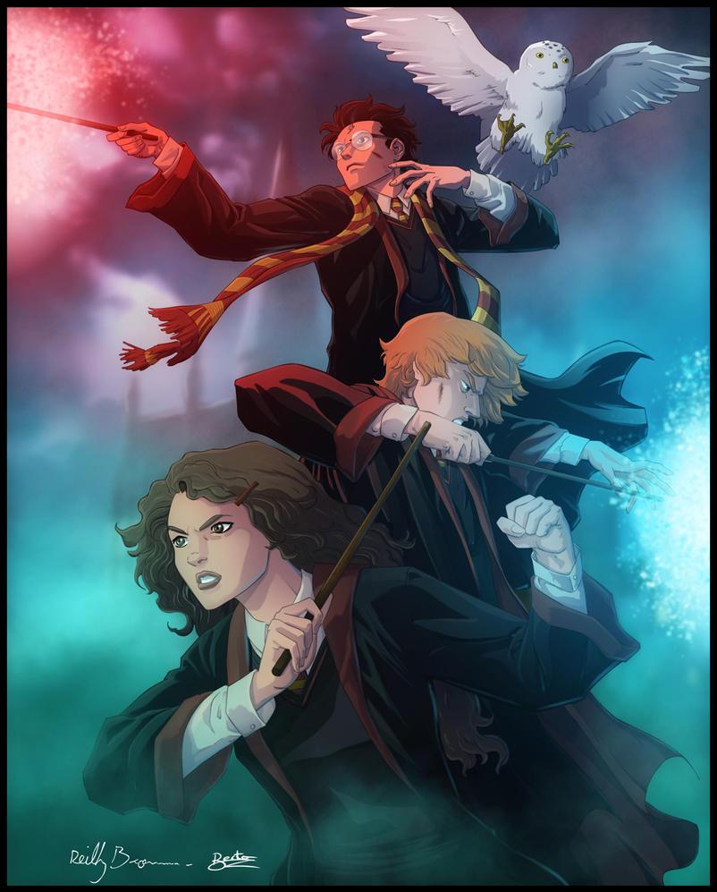 Harry Potter -Trio- by diabolumberto on DeviantArt Harry Potter Trio Fan Art